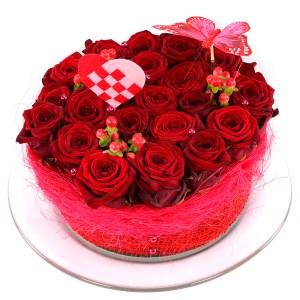 Rode rozen bloementaart versturen bestellen of bezorgen