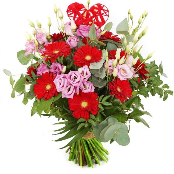 Romantische bloemen roze rood bestellen of bezorgen