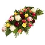 Rouwboeket mixed rozen bestellen bestellen of bezorgen