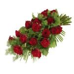 Rouwboeket rode rozen bezorgen bestellen of bezorgen