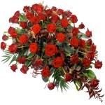 Rouwstuk rode rozen bestellen of bezorgen