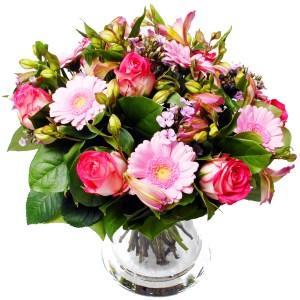 Roze boeket bloemen bestellen of bezorgen