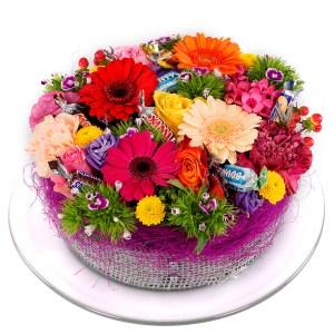 Snoep bloementaart bestellen bestellen of bezorgen