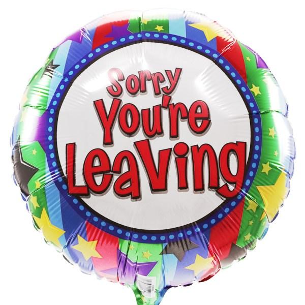 Sorry you are leaving ballon bestellen of bezorgen