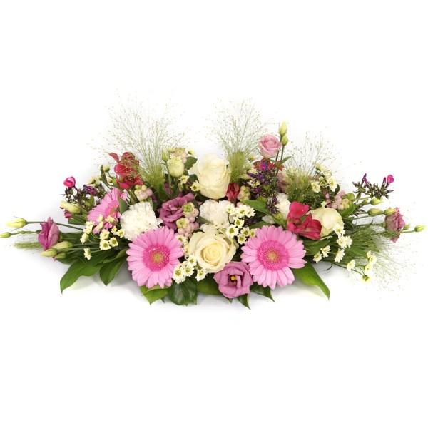 Tafelstuk roze wit bezorgen bestellen of bezorgen