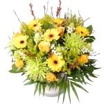 Vaderdag boeket bloemen geel groen bestellen of bezorgen