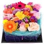 Vierkant bloementaart bestellen bestellen of bezorgen