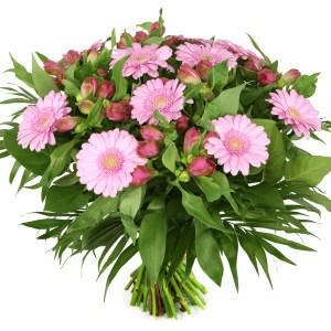 Voordeel boeket roze bloemen bezorgen bestellen of bezorgen