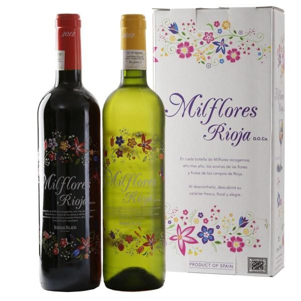 Wijngeschenk Milflores rode en witte wijn bestellen of bezorgen