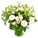 Witte bloemen boeket bestellen of bezorgen