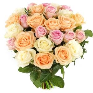 Boeket pastel rozen bestellen bestellen of bezorgen
