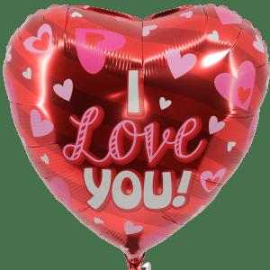 I love you ballon bestellen of bezorgen