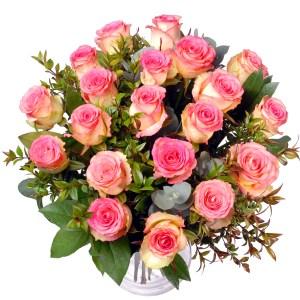 Valentijn roze rozen boeket ! bestellen of bezorgen