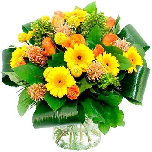 Boeket oranje - geel bestellen of bezorgen online