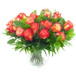 Boeket oranje rozen bestellen of bezorgen online