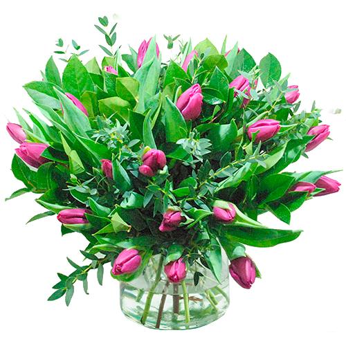 Boeket paarse tulpen bestellen of bezorgen online