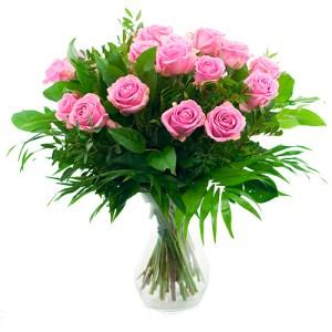 Boeket roze rozen bestellen of bezorgen online