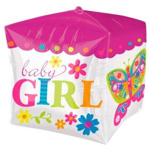 Cubez ballon Baby Girl bestellen of bezorgen online