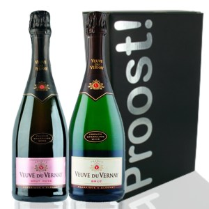 Duo Veuve du Vernay Brut en Rosé. bestellen of bezorgen online