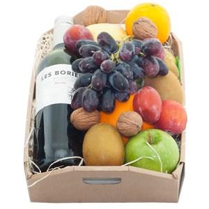 Fruitkistje met rode wijn bestellen of bezorgen online