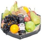 Fruitmand met twee flesjes sap bestellen of bezorgen online