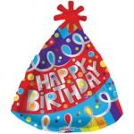 Happy Birthday Party Hat ballon bestellen of bezorgen online