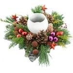 Kerststuk in schaal rood-paars bestellen of bezorgen online