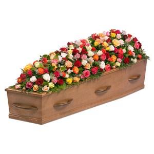 Kistversiering gemengde rozen bestellen of bezorgen online