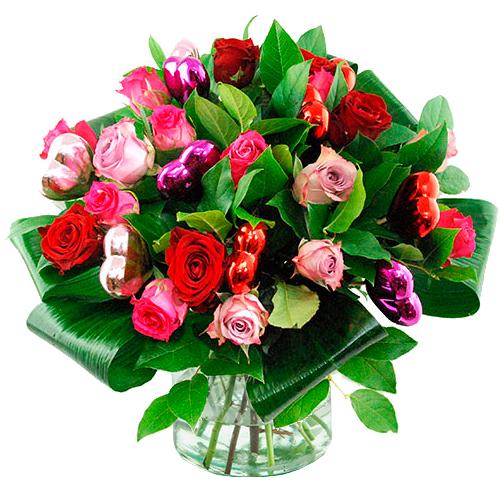 Liefdes boeket mix rozen bestellen of bezorgen online