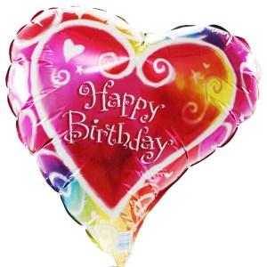 Liefdes verjaardagsballon versturen bestellen of bezorgen