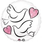 Love duifjes heliumballon bestellen of bezorgen online