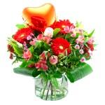 Moederdag boeket met rood hart bestellen of bezorgen online