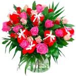 Moederdag boeket rode en roze rozen bestellen of bezorgen online