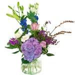 Palet boeket blauw-paars wit bestellen of bezorgen online
