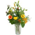Palet boeket oranje geel bestellen of bezorgen online