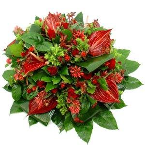 Rouwarrangement rode bloemen bestellen of bezorgen online