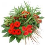 Rouwarrangement van rode bloemen bestellen of bezorgen online