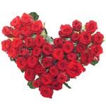 Rouwboeket hartvorm rode rozen bestellen of bezorgen online