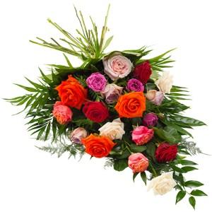 Rouwboeket van gemengde rozen bestellen of bezorgen online