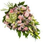 Rouwboeket van roze bloemen bestellen of bezorgen online