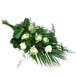 Rouwboeket witte rozen bestellen of bezorgen online