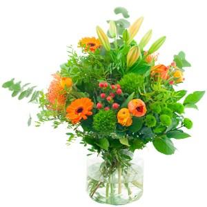 Seizoensboeket oranje bestellen of bezorgen online