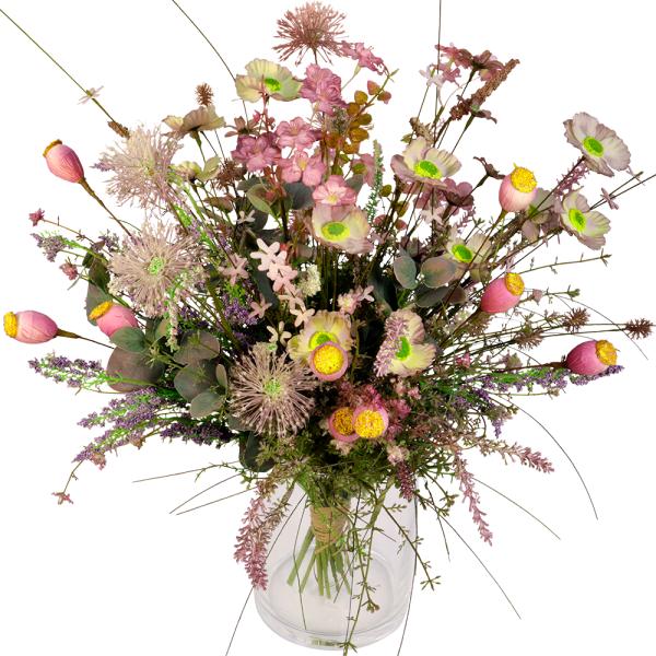 Veldboeket zijdebloemen paars - lila bestellen of bezorgen