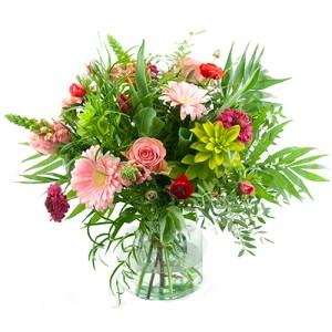 Voorjaarsboeket roze rood bestellen of bezorgen online