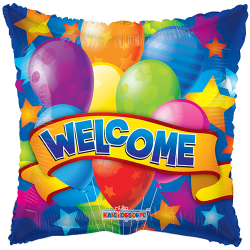 Welcome vierkante ballon bestellen of bezorgen online