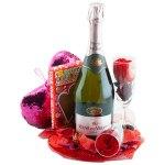 compleet valentijn cadeau veuve du vernay rosé bestellen of bezorgen online