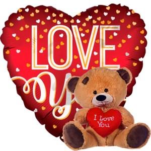 love you mat rood+ beertje met hart bestellen of bezorgen online