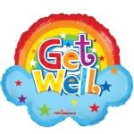 Get Well rainbow ballon bestellen of bezorgen online
