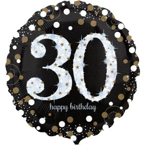 30ste verjaardag ballon bestellen of bezorgen online