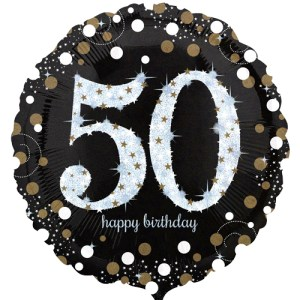 50ste verjaardag ballon bestellen of bezorgen online